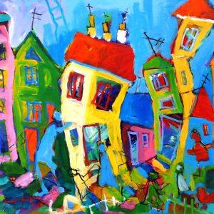 Maleri: KL113 Måler: 44x73 cm. Pris: 4.900 DKK
