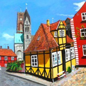 Maleri: HJ188 Måler: 60x60 cm. Pris: 4.800 DKK