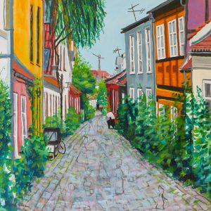Maleri: KL116, måler 60x60 cm, Pris 4.800 kr.